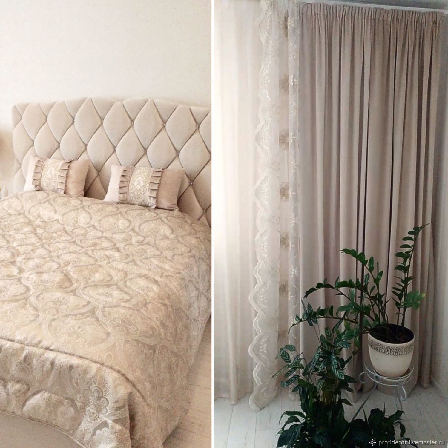 CURTAINS: Bedroom curtains made of velvet ' Pearl', Curtains1, Moscow,  Фото №1