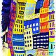 """Верхняя одежда ручной работы. Ярмарка Мастеров - ручная работа. Купить ПАЛЬТО""""ОГНИ БОЛЬШОГО ГОРОДА- 2"""". Handmade. Тёмно-синий"""