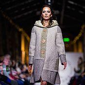Одежда handmade. Livemaster - original item Felt coat of natural wool, 42-46 p.. Handmade.