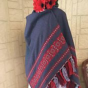 Wraps handmade. Livemaster - original item Stole in wool with ethnic embroidery