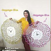 Для дома и интерьера handmade. Livemaster - original item Golden wall clock