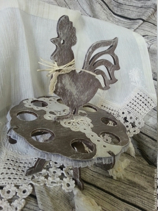 Подарки на Пасху ручной работы. Ярмарка Мастеров - ручная работа. Купить Пасхальная подставочка Кантри,под яички. Handmade. Коричневый