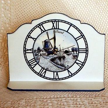 """Для дома и интерьера ручной работы. Ярмарка Мастеров - ручная работа Каминные часы """"Голландия"""". Handmade."""