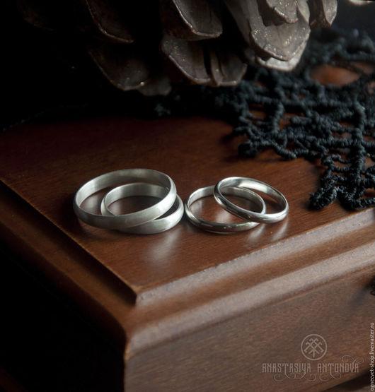 Кольца ручной работы. Ярмарка Мастеров - ручная работа. Купить Серебряное обручальное фаланговое кольцо. Handmade. Серебряный, обручальные кольца