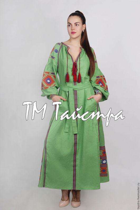 Платья ручной работы. Ярмарка Мастеров - ручная работа. Купить Платье женское вышитое бохо, этно стиль  Vita Kin,Bohemian. Handmade.