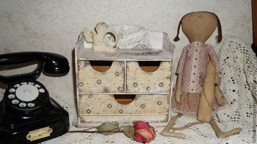 """Мини-комоды ручной работы. Ярмарка Мастеров - ручная работа. Купить комодик,,Настальгия по прошлому"""". Handmade. Бежевый, бабочки, винтаж"""