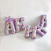 Текстиль ручной работы. Ярмарка Мастеров - ручная работа Буквы подушки, имя из подушек для девочки. Handmade.