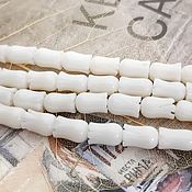 Материалы для творчества handmade. Livemaster - original item Coral natural Tulip 8h5 mm WHITE (2063). Handmade.