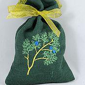 Подарки к праздникам ручной работы. Ярмарка Мастеров - ручная работа МОЖЖЕВЕЛОВЫЙ аромат, саше мешочек, подарок саше ароматическое. Handmade.
