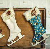 Подарки к праздникам ручной работы. Ярмарка Мастеров - ручная работа Коньки для подарков (Сапог для подарков). Handmade.
