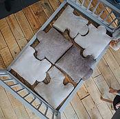 Для дома и интерьера ручной работы. Ярмарка Мастеров - ручная работа Мягкий матрас-пазлы из велюра для детской. Handmade.