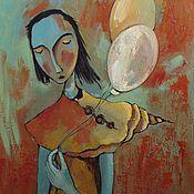 """Картины и панно ручной работы. Ярмарка Мастеров - ручная работа Картина  """" Весь в себе  """". Handmade."""