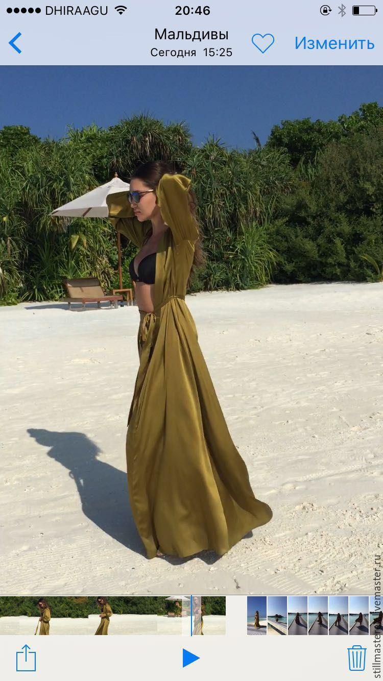 48597b11a53 Купить Длинное шелковое платье с запахом Платья ручной работы. Длинное  шелковое платье с запахом. Elena Zeleneva (stillmasterEK).