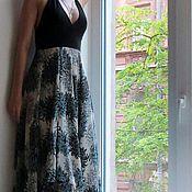 Одежда ручной работы. Ярмарка Мастеров - ручная работа Платье шелковое с трикотажным верхом.. Handmade.