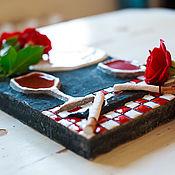 handmade. Livemaster - original item Evening with friends. Handmade tile, ceramics.. Handmade.