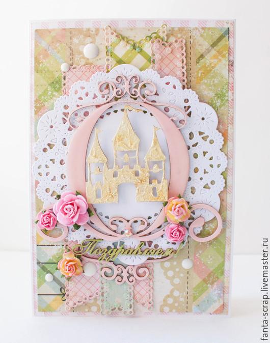 Открытка для девочки, HandMade, купить открытку ручной работы. Ярмарка мастеров-купить открытку.