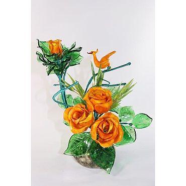 Цветы и флористика ручной работы. Ярмарка Мастеров - ручная работа Цветочный букет. Handmade.