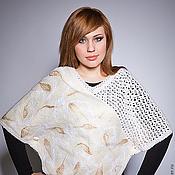 Одежда handmade. Livemaster - original item White poncho. Handmade.