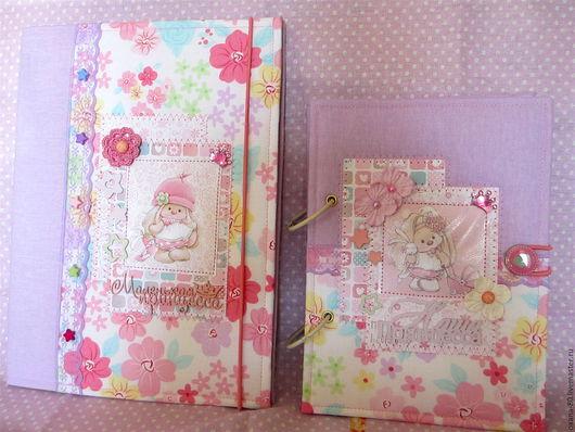 Подарки для новорожденных, ручной работы. Ярмарка Мастеров - ручная работа. Купить Набор мамин дневник и свидетельство о рождении. Handmade.