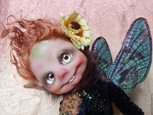 Коллекционные куклы ручной работы. Ярмарка Мастеров - ручная работа. Купить букашка МОШКА. Handmade. Комбинированный, авторская работа