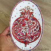 Картины и панно handmade. Livemaster - original item Plate decorative Pomegranate. Hand painted. Gift. Handmade.