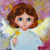 Картины и панно handmade. Livemaster - original item Star angel. Oil painting.. Handmade.