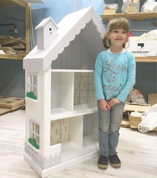 Кукольный дом ручной работы. Ярмарка Мастеров - ручная работа. Купить Кукольный домик стеллаж. Handmade. Белый, шкаф, барби