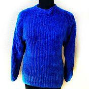 Одежда handmade. Livemaster - original item Blue velour jumper. Handmade.