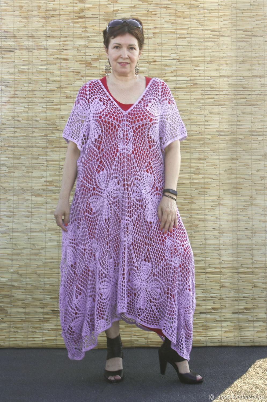 Ажурное платье - кафтан свободного размера, Платья, Чернигов,  Фото №1