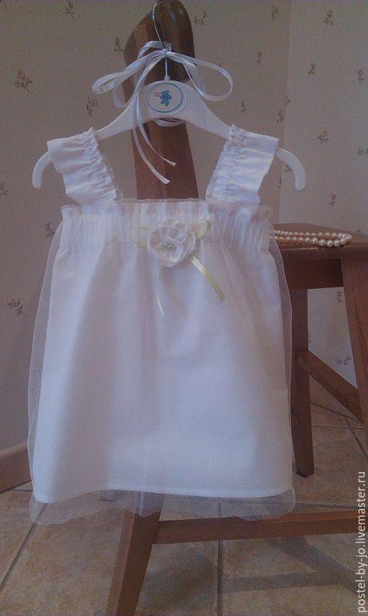 Одежда для девочек, ручной работы. Ярмарка Мастеров - ручная работа. Купить Платье Зефирка. Handmade. Белый, крестильный набор