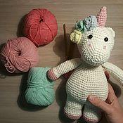Куклы и игрушки ручной работы. Ярмарка Мастеров - ручная работа Единорожек вязанный крючком. Handmade.