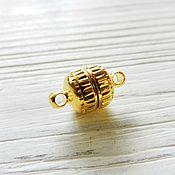 Материалы для творчества handmade. Livemaster - original item Magnetic clasp 13x8 color Gold (Ref. 1444-3). Handmade.