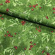 Материалы для творчества ручной работы. Ярмарка Мастеров - ручная работа Ткань Seasons Greetings. Handmade.