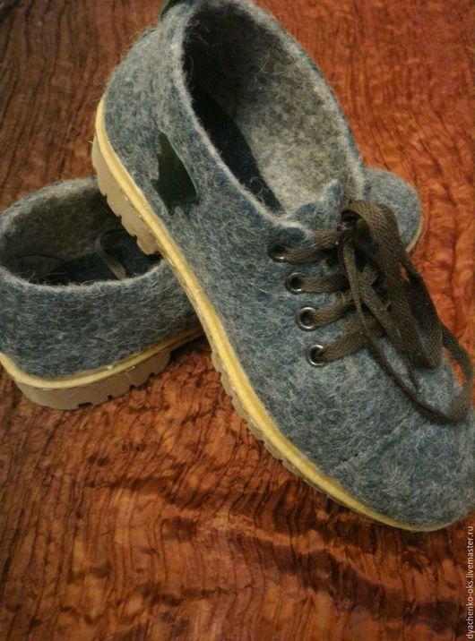 Обувь ручной работы. Ярмарка Мастеров - ручная работа. Купить Туфли валяные, мужские Trekking. Handmade. Туфли ручной работы