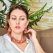 handmade. Livemaster - original item Jewelry sets: Necklace and earrings :