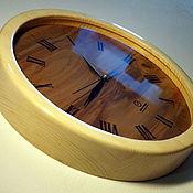 Для дома и интерьера handmade. Livemaster - original item Wall clock made of wood Ecoloft elegant eco-style 350mm. Handmade.