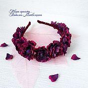 Украшения handmade. Livemaster - original item headband with flowers. headband flower. Headband.. Handmade.