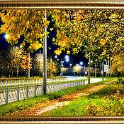 """Дизайн и реклама ручной работы. Ярмарка Мастеров - ручная работа Фото-работа """" Осенний парк вечером"""". Handmade."""
