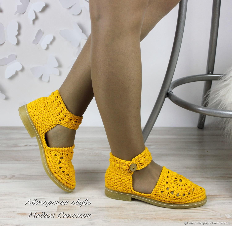 32087720f762 Sandals sandals yellow womens summer – shop online on Livemaster ...