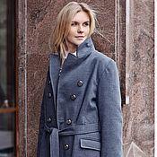 Одежда ручной работы. Ярмарка Мастеров - ручная работа Пальто цвета мокрого асфальта. Handmade.