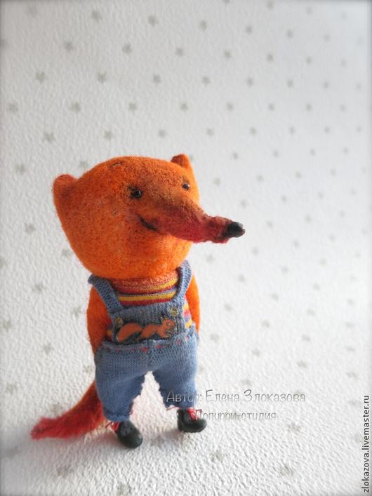 Броши ручной работы. Ярмарка Мастеров - ручная работа. Купить брошь лисёнок из шерсти. Handmade. Рыжий, лисичка игрушка