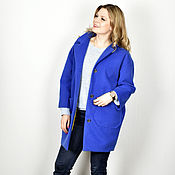 """Одежда ручной работы. Ярмарка Мастеров - ручная работа Пальто """"Невозможно синий"""". Handmade."""