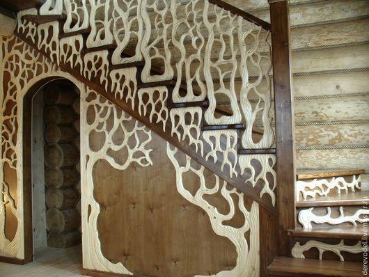 Эксклюзивная лестница ручной работы Получилось очень красиво и сказочно!