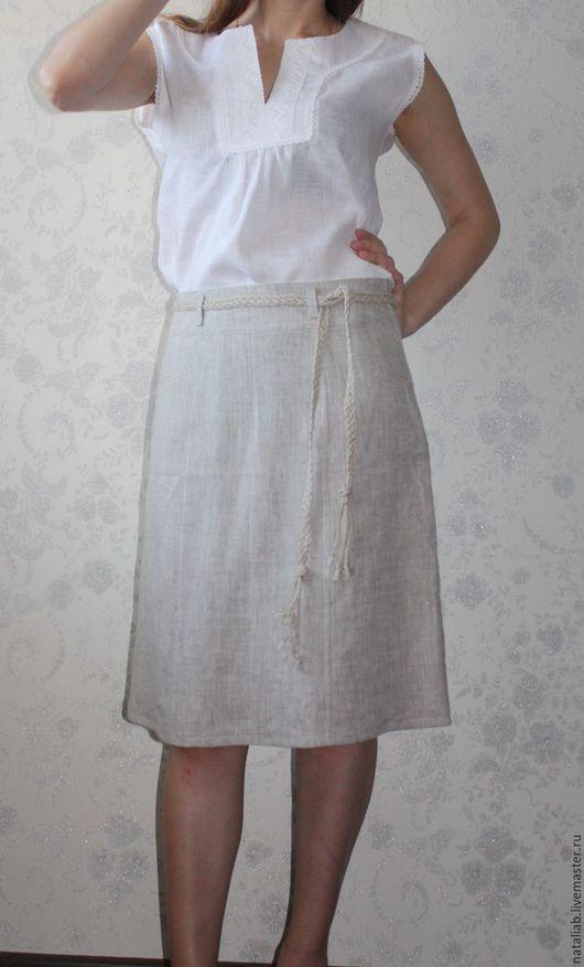 """Юбки ручной работы. Ярмарка Мастеров - ручная работа. Купить Льняная юбка """"Лён"""". Handmade. Серый, льняной костюм"""