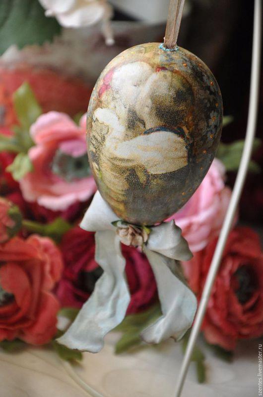 Подарки на Пасху ручной работы. Ярмарка Мастеров - ручная работа. Купить Пасхальное яйцо. Handmade. Бирюзовый, светлая пасха, пластик