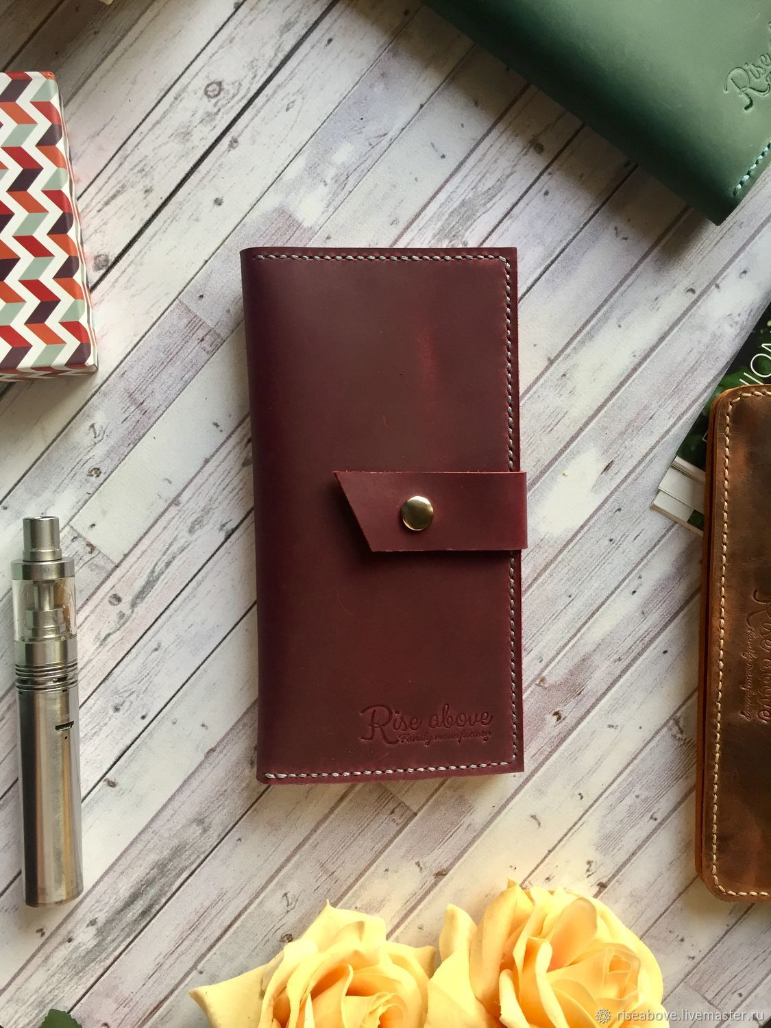 Wallet Amber Bordeaux Shop Online On Livemaster With Shipping