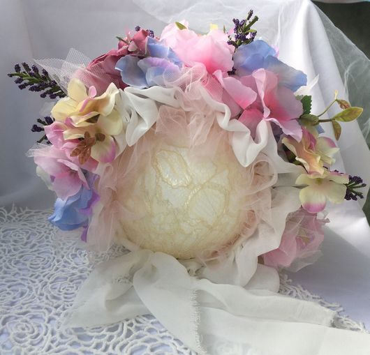 Для новорожденных, ручной работы. Ярмарка Мастеров - ручная работа. Купить Шапочка-клумба. Handmade. Фотосессия детей, цветы искусственные