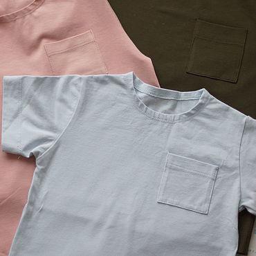 Одежда ручной работы. Ярмарка Мастеров - ручная работа Базовая детская футболка. Handmade.