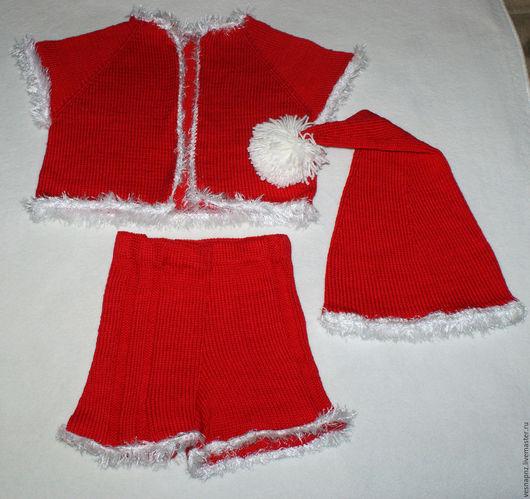 Детские карнавальные костюмы ручной работы. Ярмарка Мастеров - ручная работа. Купить Вязаный костюм Гномика. Handmade. Ярко-красный