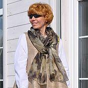 """Аксессуары ручной работы. Ярмарка Мастеров - ручная работа шелковый шарф """"Благородный серый"""". Handmade."""